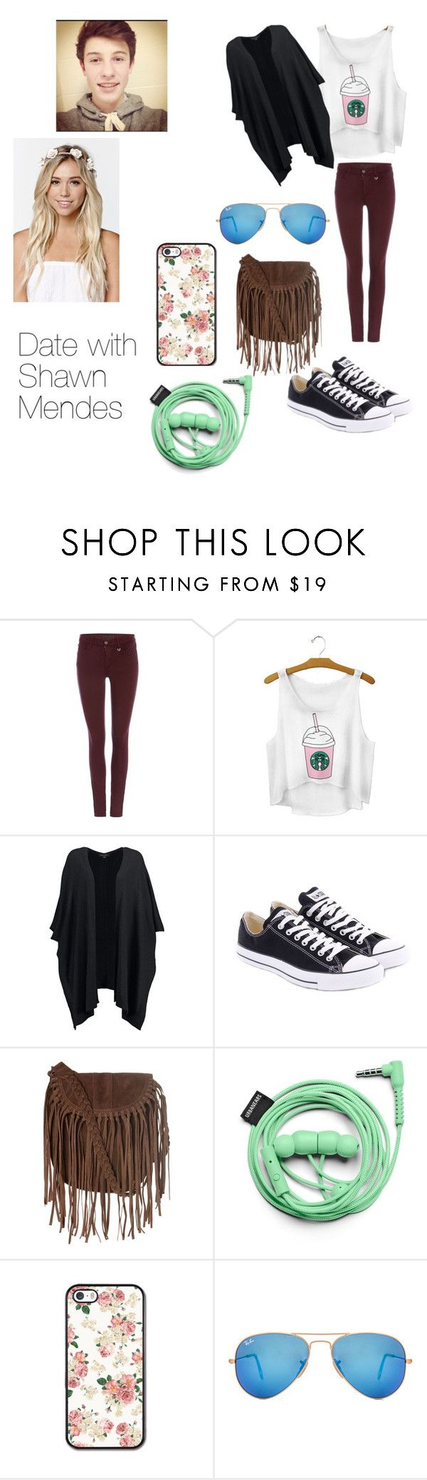 """Date with Shawn Mendes;)"" by books-obsessed ❤ liked on Polyvore featuring True Religion, New Look, Converse, Glamorous, Urbanears, Ray-Ban, With Love From CA, women's clothing, women and female"