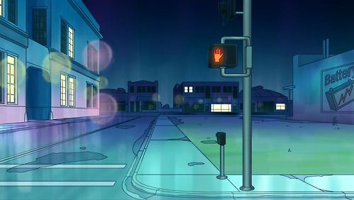 """phil mcandrew Background Number One We're pretty lucky Alex and Amanda make up the """"Bee and PuppyCat"""" background department. We hope you like this one as much as we do. beeandpuppycat: Do Not Walk Here's the cartoon's first finished production background. Natasha signed off on this beauty by designer Alex Dilts and painter Amanda Thomas over the weekend. Thanks, Alex. Thanks, Amanda. amanda's blog!!!!! alex's blog!!!!!"""