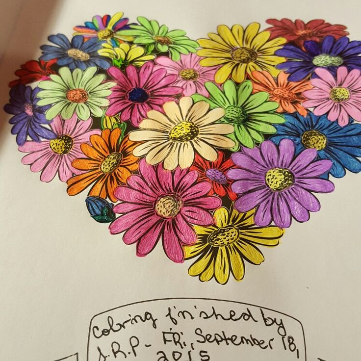 Flowers I Color With Gelly Roll Pens Pg From The Colorama