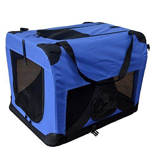 Hundetransportbox Hundebox faltbar Transportbox Autotransportbox Faltbox Transportasche 401-D01 royal blau Grösse: S - http://www.transportbox-katzen.de/produkt/hundetransportbox-hundebox-faltbar-transportbox-autotransportbox-faltbox-transportasche-401-d01-royal-blau-groesse-s/