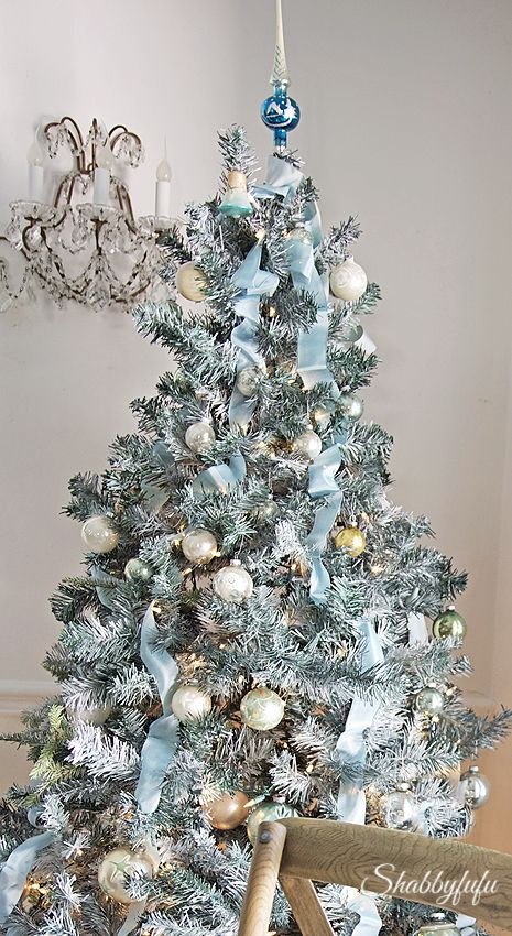 a remarkable gift of christmas a flocked tree - Inexpensive Christmas Trees