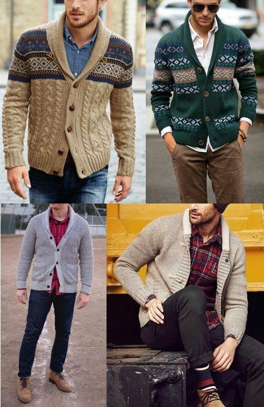 mens cardigan how to wear
