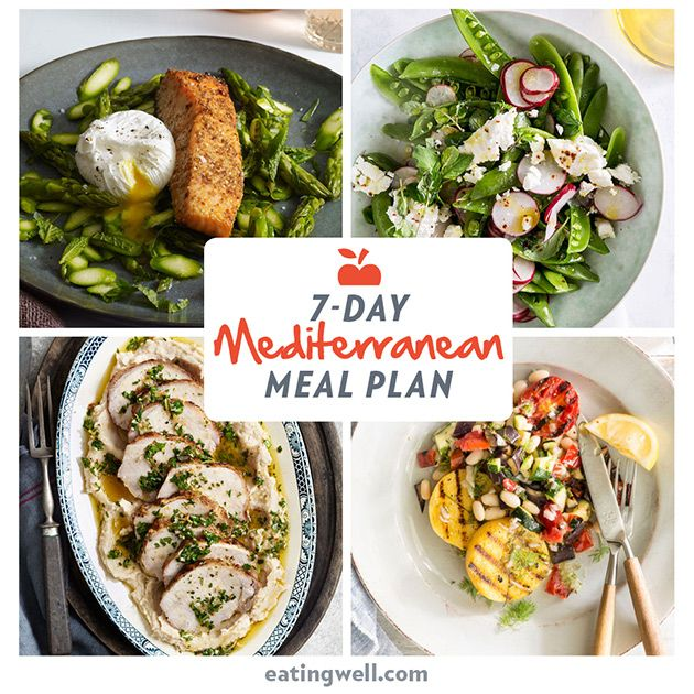 7-Day Mediterranean Diet Meal Plan—This week's meal plan makes it even easier to follow the Mediterranean diet with seven days of fresh and healthy dinners.