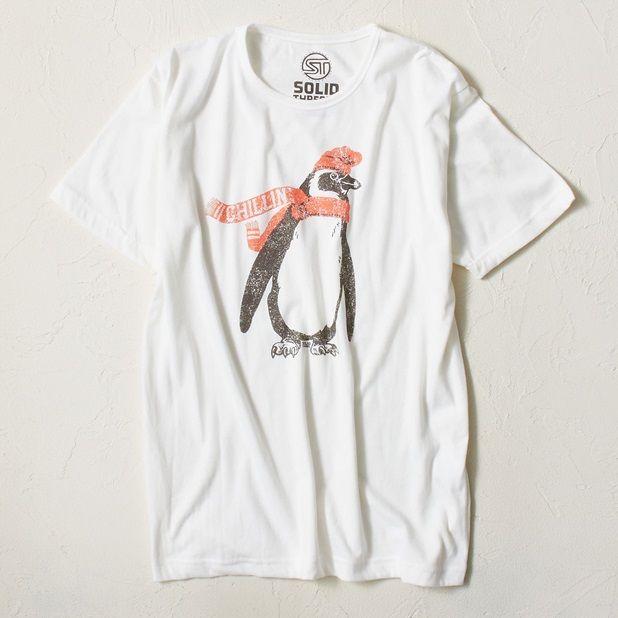SOLID Threads プリントTシャツ メンズ(ホワイト-S)