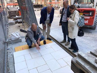 Bari sopralluogo in via Sparano per la nuova pavimentazione