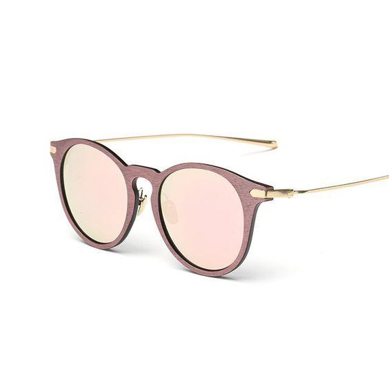 Marque de luxe Conception Ronde lunettes de Soleil Femmes Concepteur de  Marque Chaude Vintage Rétro Miroir 4ded856ee3d6