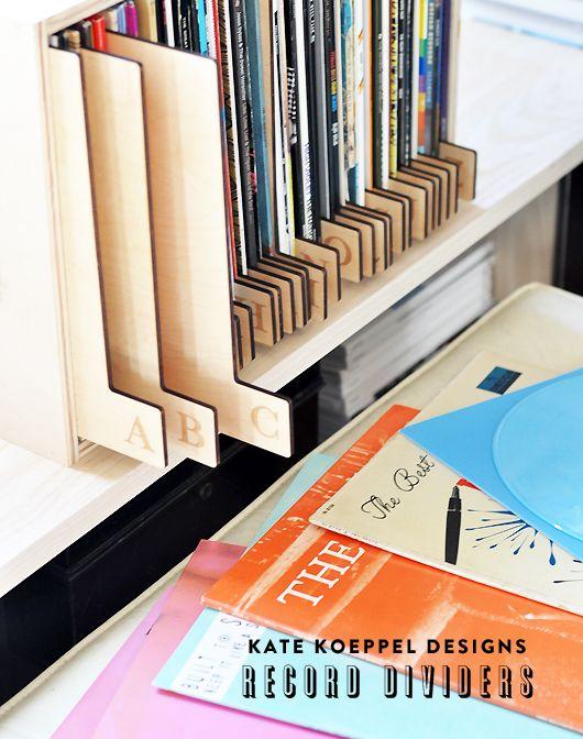 Separadores para organizar los discos de vinilo