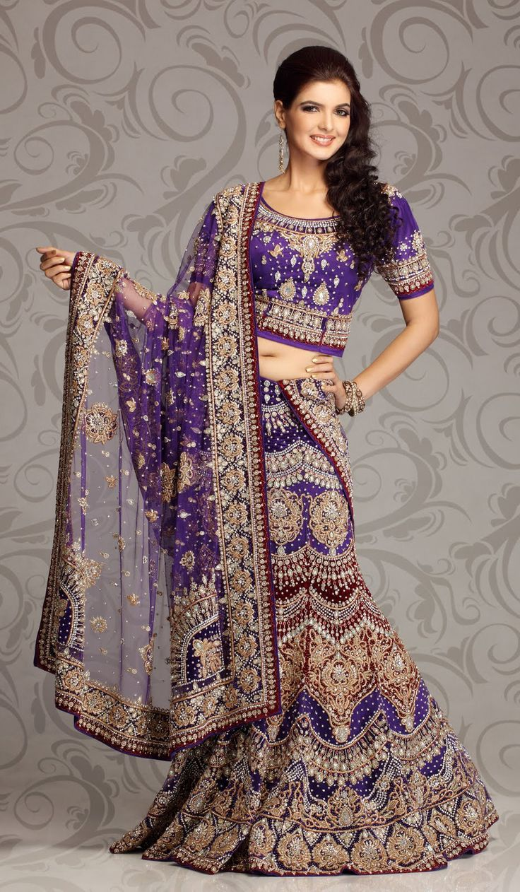 43 best lehenga style saree bridal wear collection for Wedding dresses indian style