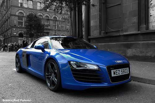 Audi R8 Black And Blue