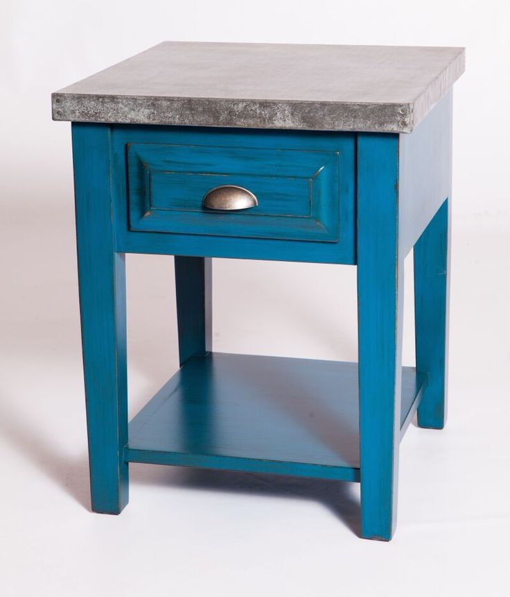 Custom Zinc Nightstands Made By Barrio Antiguo Houston TX 77007 (713)880  2105 Contact