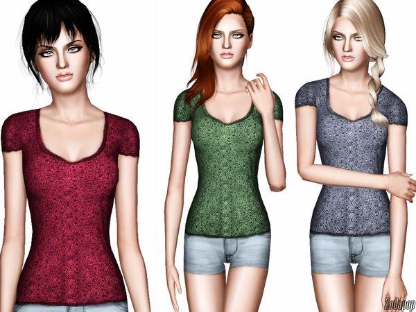 zodapop's Lace Burnout T-Shirt