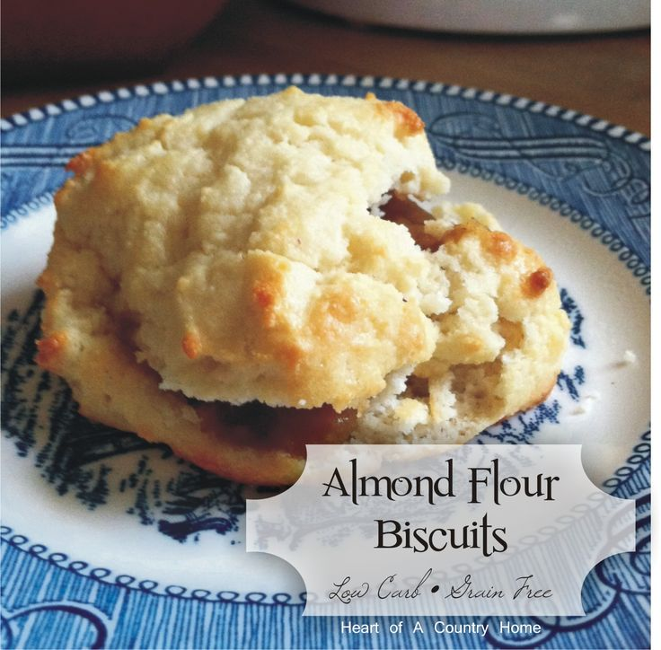 Almond Flour Biscuits ~ Low Carb • Grain Free (I'll use lard instead of butter to make these Paleo, but it looks like a great recipe)