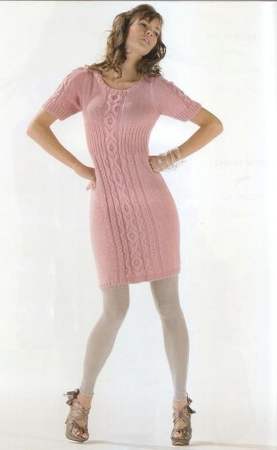 VORSA SPICA: Розовое французское платье