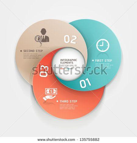 Современный бизнес круг варианты оригами стиль баннер.  Векторная иллюстрация.  может быть использован для размещения рабочего процесса, диаграммы, Настройки Количество, активизировать опции, веб-дизайн, инфографика.