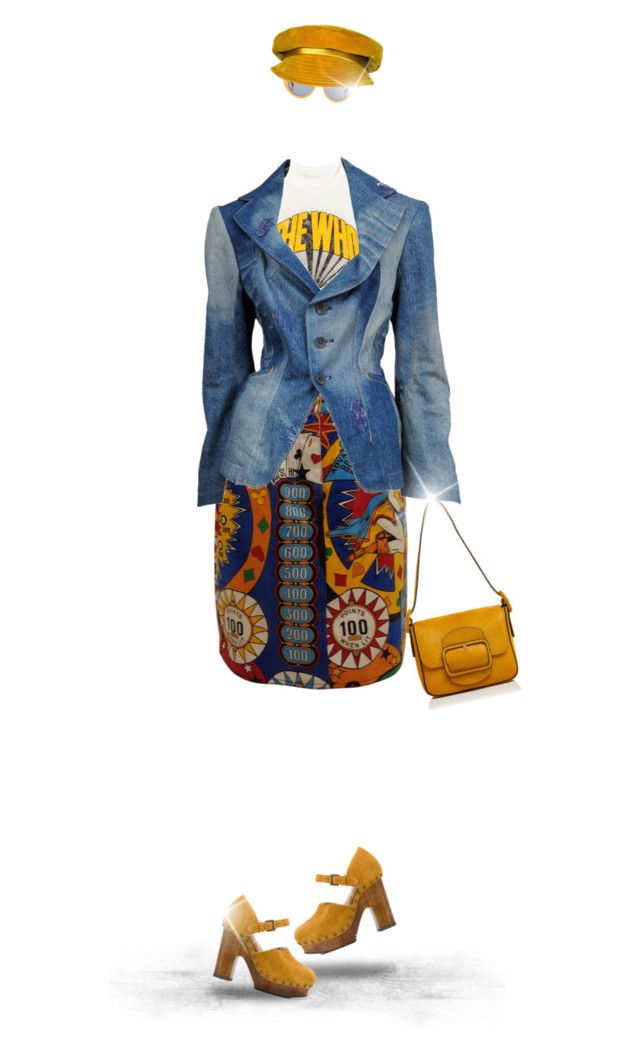 """""""Pinball Wizard"""" by joy2thahworld ❤ liked on Polyvore featuring Moschino, Junya Watanabe, L'Autre Chose, Marni, Mr. John and Tory Burch"""
