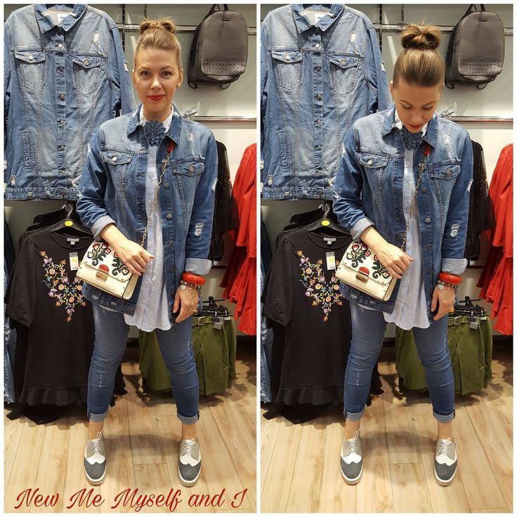 "Denim, primark, denim on denim, outfit, womens fashion, casual look. New Me Myself & I (@newmemyselfandi) on Instagram: ""Love love love .... #denimjacket #denim #denimondenim #penneys #shoe_rack_ie #shoerackathlone…"""