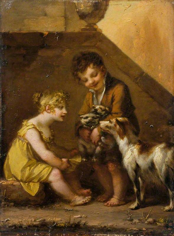 The Athenaeum - PRUD'HON, Pierre-Paul French Neoclassical (1758-1823)_Puppies - circa 1795