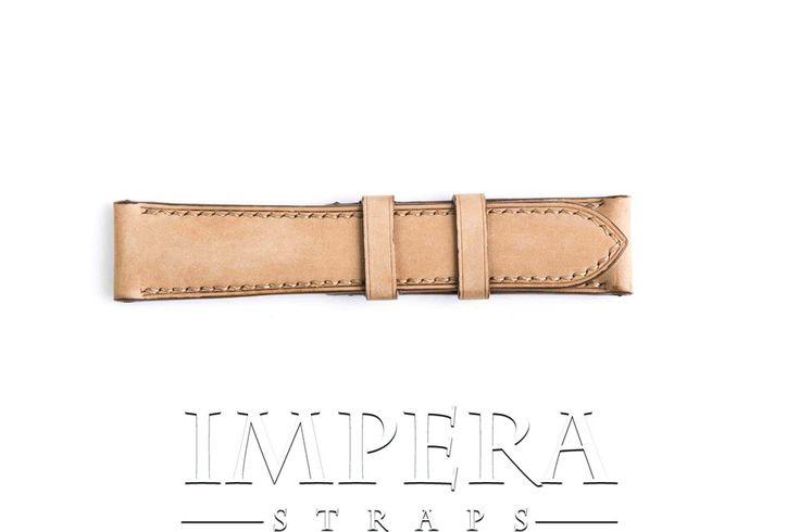 Vegetable Tanned Nubuck Light Brown Genuine Leather Watch Strap,https://www.imperastraps.com