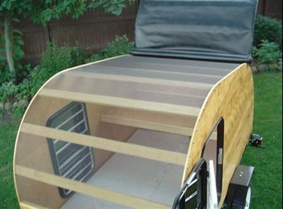 Teardrop Camper Plans - Build A Teardrop with convertable top!