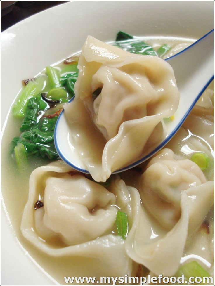 "Wonton Dumpling Soup aka My Wonton Soldiers. Another Pinner says ""this is awesome!"". Try."