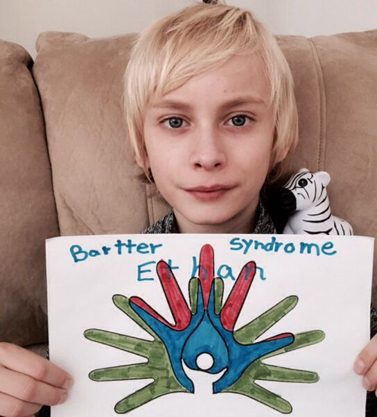 Ethan supports Bartter syndrome.