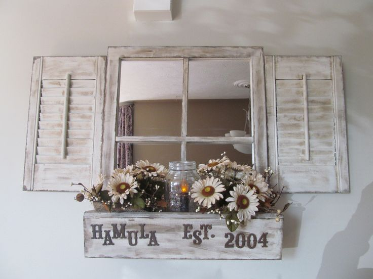 Window box with shutters from My Newest Creations (www.facebook.com/mynewestcreations)  #craftyab