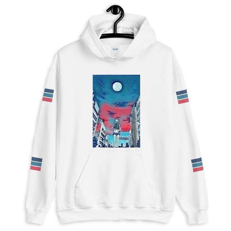 Moon girl anime hoodieoversizedart hoodieaesthetic