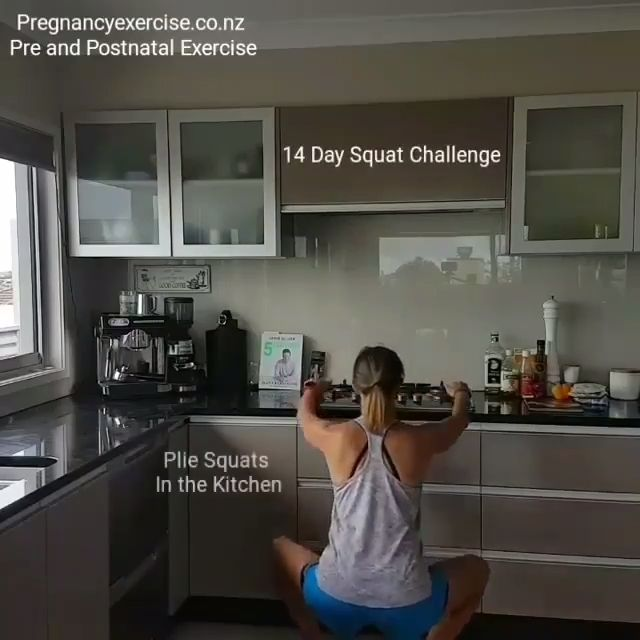 14 Day Squat Challenge for Pre and Postpartum Moms