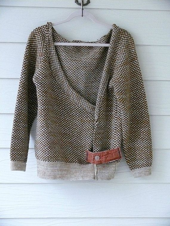 small  medium / Urban Shabby Chic Sweater / by DressMeLoveLee, $47.75