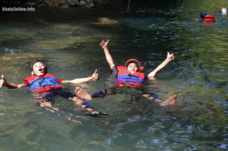 Body Rafting at Green Canyon, Pangandaran
