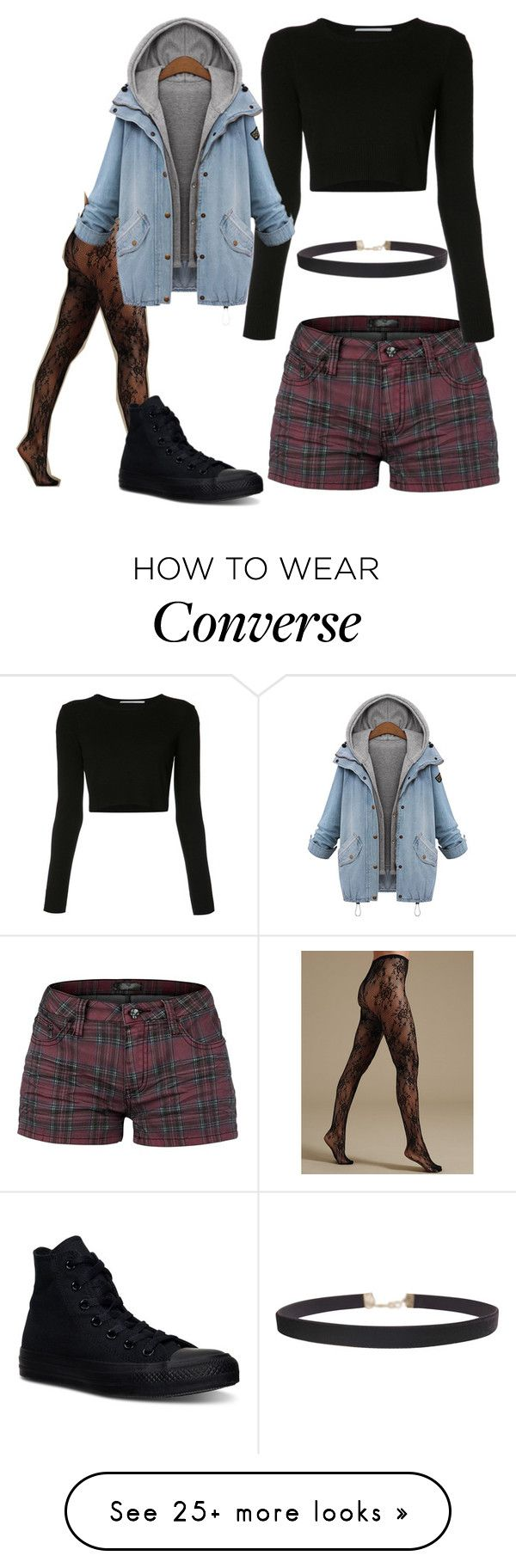 """Untitled #1642"" by laurenwolfchild on Polyvore featuring Rosetta Getty, Converse and Humble Chic"