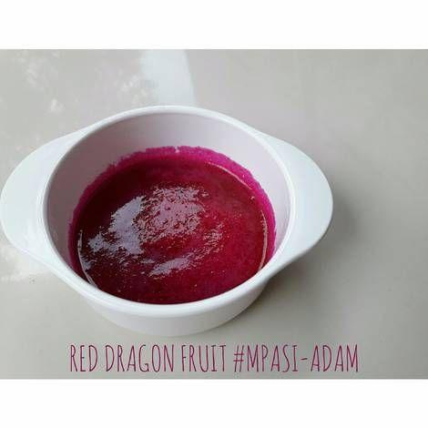 Puree buah naga MPASI 6BULAN