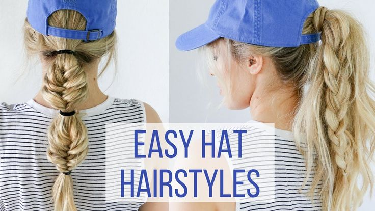 Here's a hair tutorial on four easy hat hairstyles. I'm working with Schwarzkopf to show you guys some game day styles. You can wear these hair styles to wor...