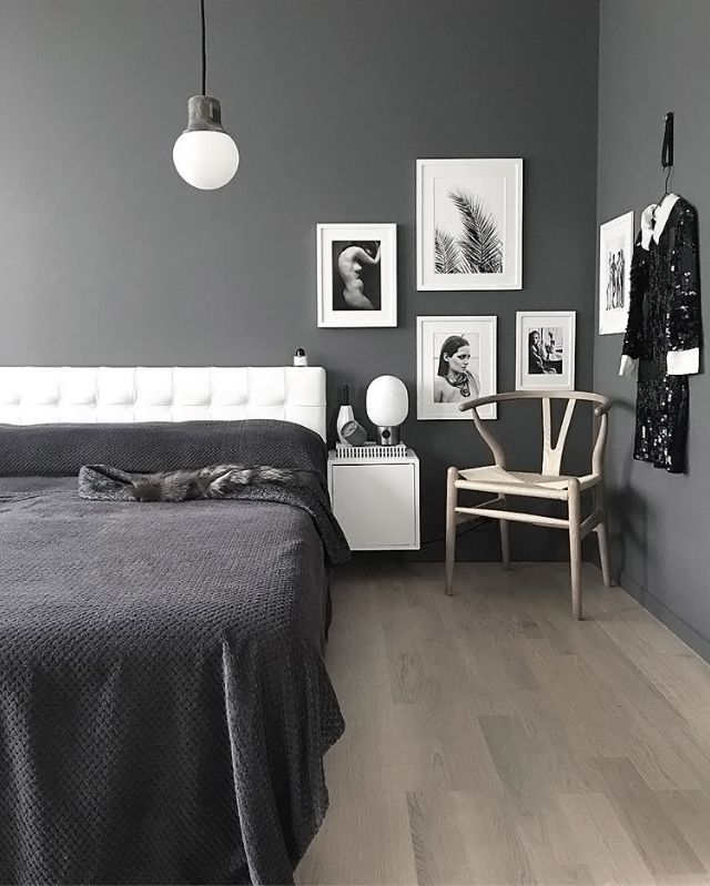 A grey and white bedroom - Is To Me -Palettenior