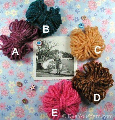yarn dyeing recipes,wilton, kool aid, mccormicks,queens etc