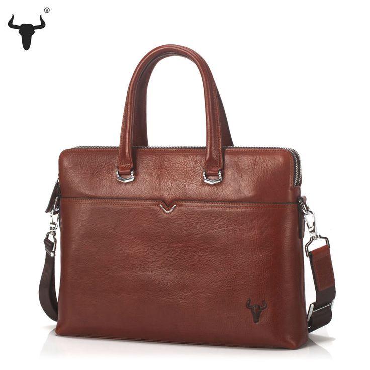 Men's Genuine Cowhide Messenger Bag / Business Laptop Bag - Pick Pay Post