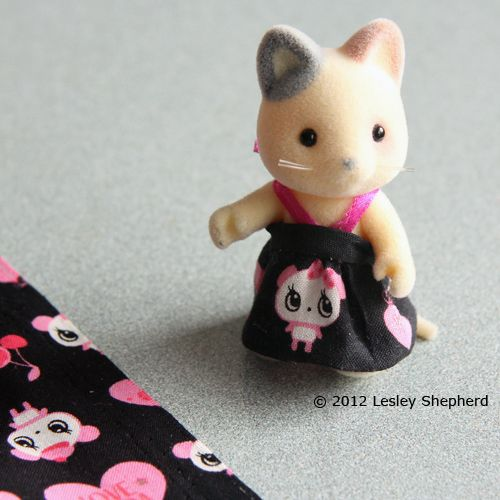 calico critter sewing patterns | Learn How to Hand or Machine Sew a Simple Wrapped Skirt or Dress for ...