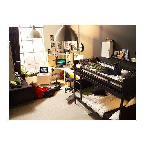 NORDDAL Estrutura beliche IKEA Pode separar-se em duas camas individuais. A escada pode ser montada à direita ou à esquerda da cama.
