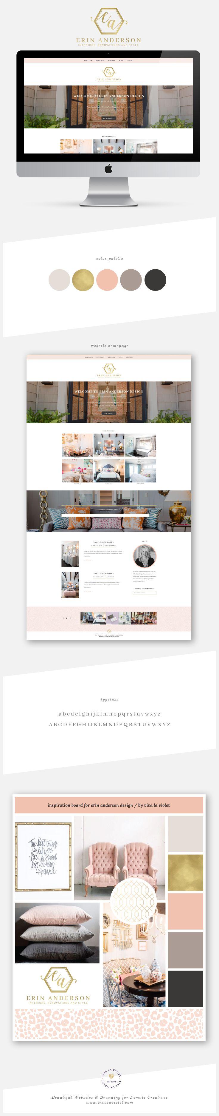 Beautiful Web Designs and Branding for Female Creatives by Viva la Violet | Erin Anderson Design
