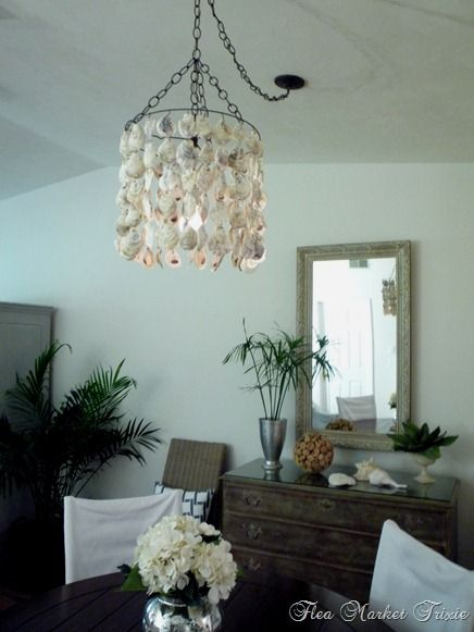 DIY Oyster Shell Light from Flea Market Trixie