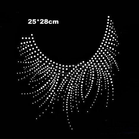 Nice round neckline hotfix rhinestones,heat transfer design motif,rhinestone applique,sewing accessories(ss-t3735)