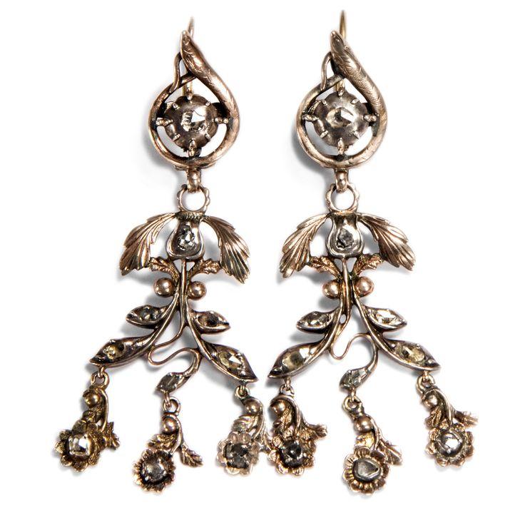 Evas Ohrringe - Exquisite Ohrringe des späten 18. Jahrhunderts aus Gold, Silber & Diamanten von Hofer Antikschmuck aus Berlin // #hoferantikschmuck #antik #schmuck #antique #jewellery #jewelry