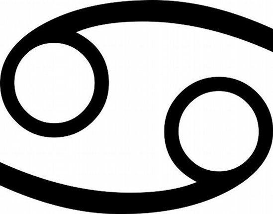 Glifo segno zodiacale del cancro