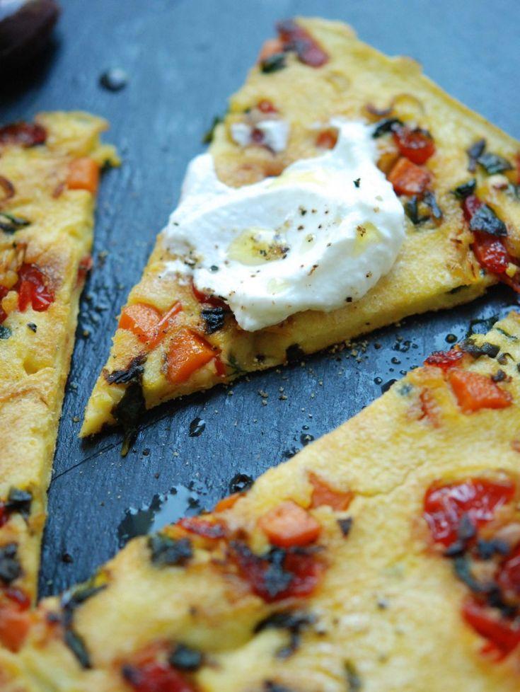 Chickpea Flour Frittata (gluten-free, grain-free). An eggy flatbread ...