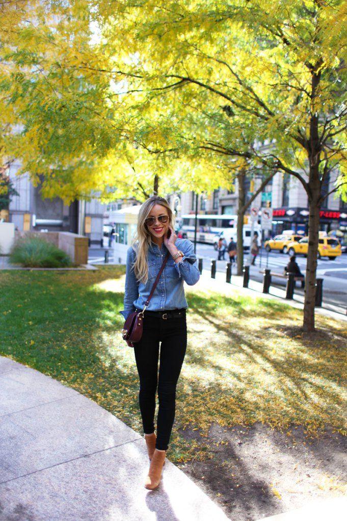 Like! #outfit #stoer #spijkerblouse #zwart #hakken