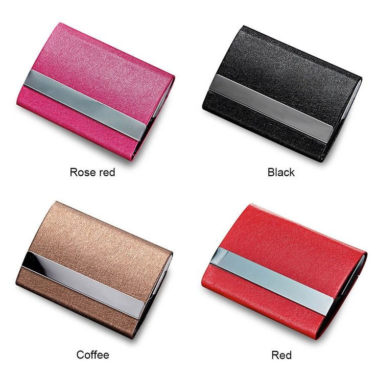 Organizer Business Cards Box for Women Men Credit Card Holder Buckle ID Holders …