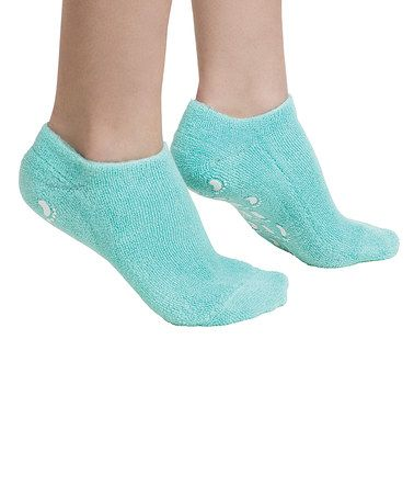 Look what I found on #zulily! Teal Moisture Gel Socks #zulilyfinds