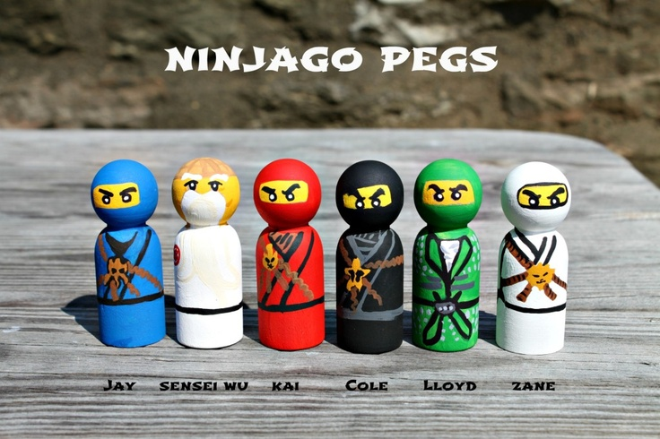Ninjago Inspired Peg Dolls by Crossing the Bugger-Dixon Line