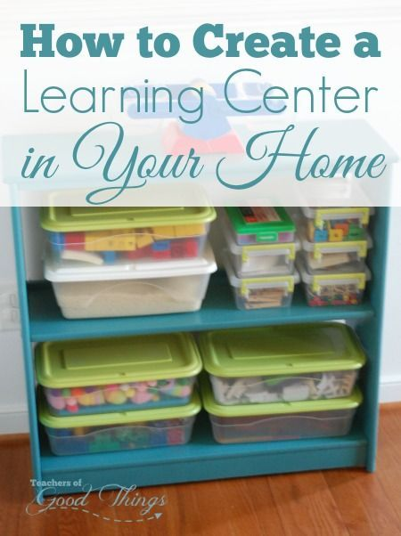 How to Create a Learning Center in Your Home   www.teachersofgoodthings.com