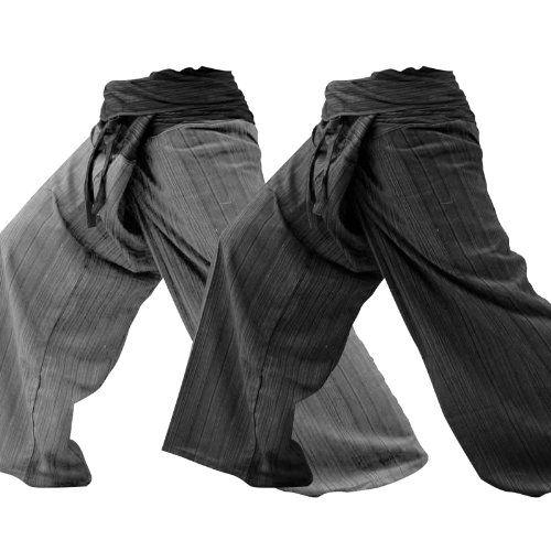 2Pack-[2p 001] pescatore tailandese pantaloni Yoga pantaloni formato libero: Amazon.it: Sport e tempo libero